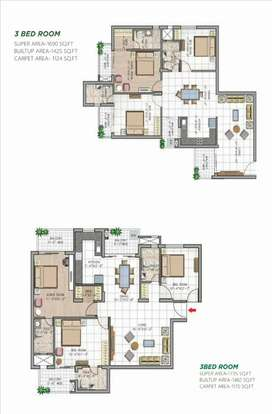 3 BHK High Rise Ready to Shift