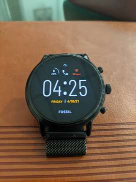 FOSSIL Gen 5 Carlyle HR FTW4025, Smart watch, anodised metal strap