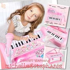 SAY03-Mainan Anak Piano Mini + LED +MIC Mainan Piano Anak Mainan Piano