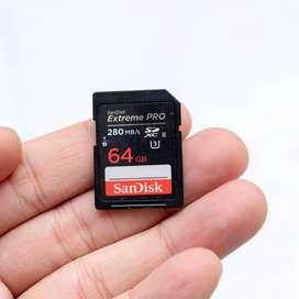 Memory Sandisk Extreme Pro 64 gb / 280 mbps SDXC UHS-II
