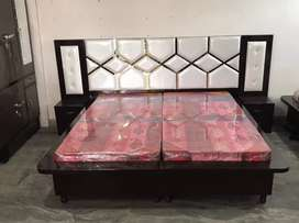Bed with full back brand new Delivery free Best quality dico paint