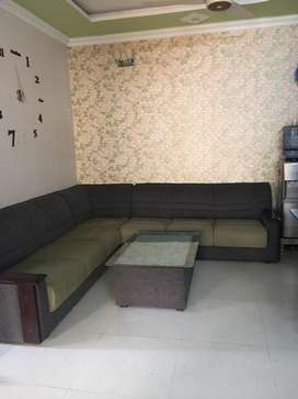 L shape sofa set with table for sale