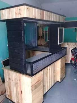 Menjual/pembuatan steling, booth kayu jati belanda