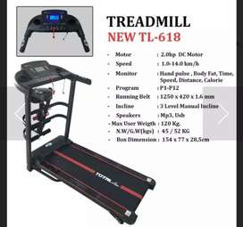 Treadmil  Elektrik  Tl 618 mesin 2 hp