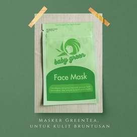 Baby Green Masker - Masker Teh Hijau - Masker Alami - Kecantikan