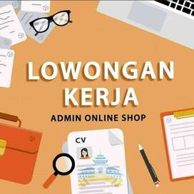 Admin Online Shop Jakarta Barat