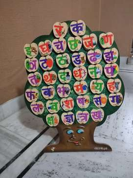 Wooden Tree For Kids- Hindi, English & Shapes, 103 pieces