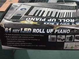 61 key LED Roll up Piano