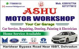 Aasu motor workshop. Home services available