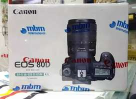 Canon EOS-80D with 18-135mm IS STM USM Available on easy Instalments.