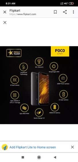 Mi Poco f1 6 gb 128 gb Rossy gold tiptop condition