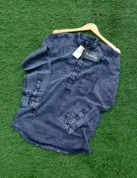 Kemeja panjang jeans
