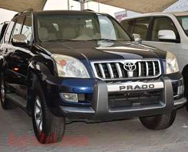 Toyota prado available for rent with driver and without driver