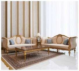Set Sofa Tamu Minimalis Oval Modern Terbaru