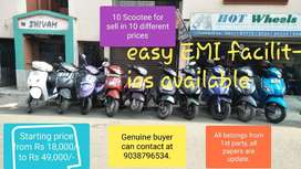 Used Scooty available with Easy EMI Facility