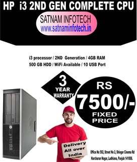 HP INTEL i3, 2nd Gen, 4GB RAM , 500GB HDD, WIFI Adaptor, 3yr warrant @