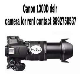 CANON 1300D DSLR CAMERA FOR RENT