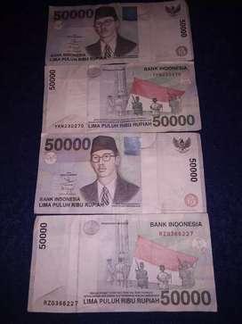 Uang 50.rb*WR SOEPRATMAN.1999