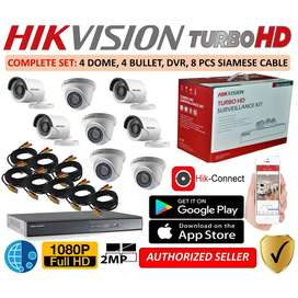 CCTV SECURITY SYSTEM FULL HD 2-MP FREE INSTALLATION & ONLINE