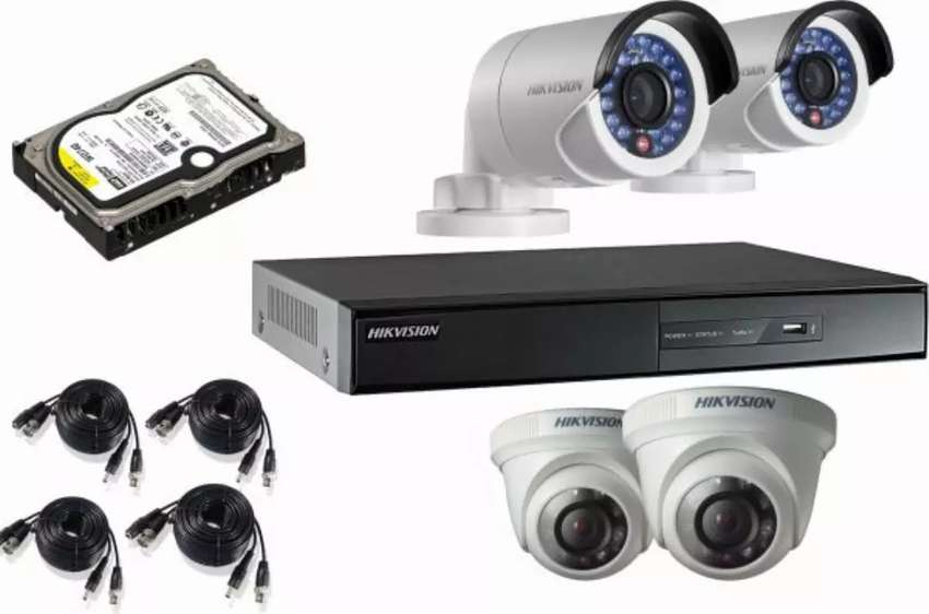 4-CCTV Camera With Complete Installation 0