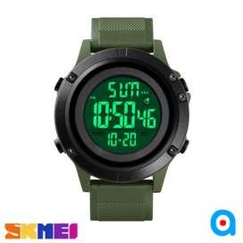 Jam tangan pria skmei original simpel sport digital ab1508 green black