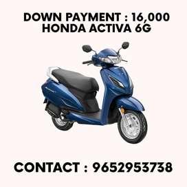 Get Honda Activa 6G at 16000Rs Downpayment