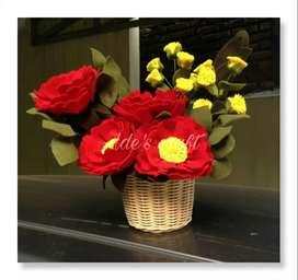 Vas Bunga Garberra Merah