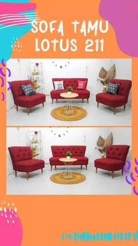 Ready Stock sofa tamu 211 lotus