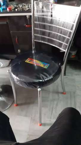 New steel chairs