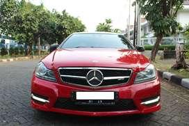 Mercedes Benz C250 Coupe Merah 2012 pakai 2013