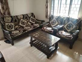 5 seater sofa set with cushions & Centre Table ( Negotiable Price)