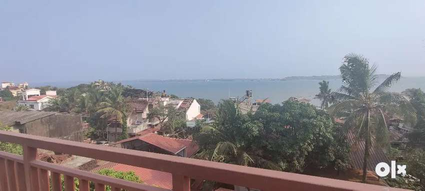 Sea view 1bhk fully furnished with terrace Dona Paula