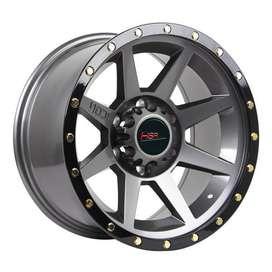 Velg Mobil HSR Wheel Tipe FLINT 8003 HSR R17X9 H6X139,7 ET0 GREY-BL