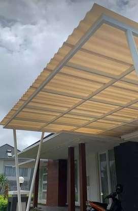 Kanopi baja ringan atap alderon RS singel layer