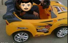 Kids electronic car with remote control chargibal