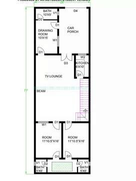 House plans 2D 3D of your dream house