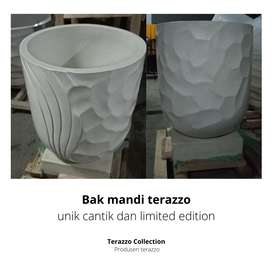Bak mandi terazzo unik cantik dan limited edition tipe Gelombang