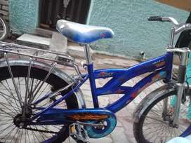 Bi cycle blue colour other ok
