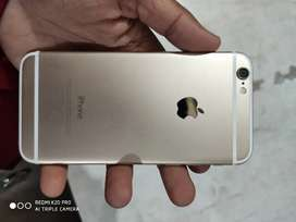 iPhone 6 32gb golden colour with cover and new charge