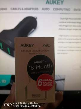 Jual AUKEY Car Charger 2 Ports 24W