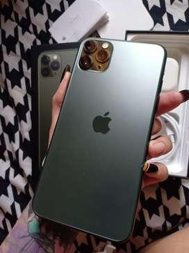 Iphone 11 pro max 256gb midnight green resmi