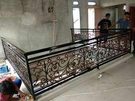 Tempa pagar Tralis motif Lukisan luar dan dalam