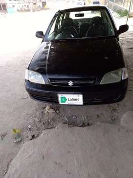 Cultus car model 2007 lahore number matlic black colour