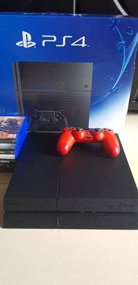 Playstation 4 fat hdd 1T plus bonus 6 game