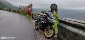 Yamaha R3, with lots of accessories