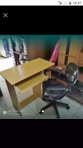 Meja kumputer+kursi naik turun