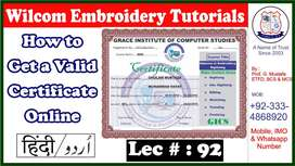 Diploma in Wilcom Embroidery Digitizing or Punching