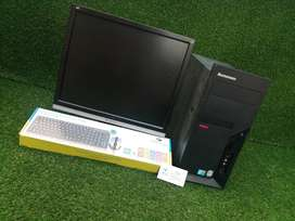 LEnovo think center core 2duo WITH monitor full set SYSTems