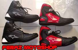 Sepatu Touring Drag Motor Balap Safety Shoes Alpinestar