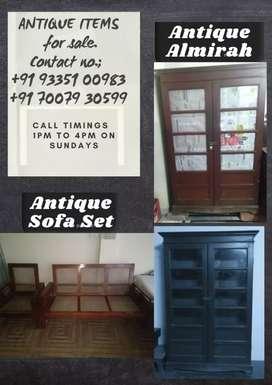 Almira and caned sofa (3+1) antique quality